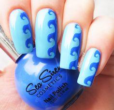 WAVE NAILS  Sea Siren - Sea Dayze Sea Siren - Ultramarine   #nail #nails #nailart #naildesign #nailpolish #nailstagram #manicure #mani #neglelakk #manikyr #instanails #nagellack #nailspiration #notd #nailsoftheday #cutenails #cutemani #nails2inspire #nailartaddict #nailsofinstagram