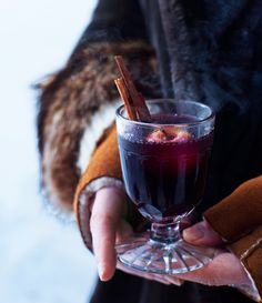 Tis the season for mulled wine (with a whole apple in it!)  (Shot by Ditte Isager, Bon Appétit, December 2012)
