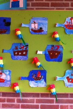 """These pirate crafts would be adorable to pair with a writing prompt! ....Follow for Free """"too-neat-not-to-keep"""" teaching tools & other fun stuff :)"""