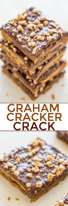 Graham Cracker Toffee (aka Graham Cracker CRACK) - Sweet, buttery, caramely, perfectly chocolaty, topped with toffee bits for extra crunch! Lives up to its name and extremely ADDICTIVE! An EASY holi (Favorite Desserts Graham Crackers) Graham Cracker Toffee, Saltine Toffee, Toffee Bars, Graham Cracker Dessert, Christmas Crack Recipe Graham Crackers, Graham Cracker Crack Recipe, Cracker Candy, Graham Cracker Cookies, Recipes With Graham Crackers