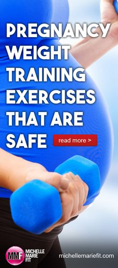 These pregnancy weight training exercises are safe and great for helping not gain a lot of weight and stay strong.  http://michellemariefit.com/pregnancy-weight-training-exercises-that-are-safe/