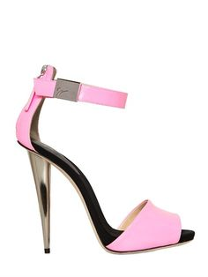 Giuseppe Zanotti 120mm Patent Leather Sandals in Pink | Lyst