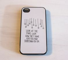 Yellow Lyrics Case  Perfect for that Coldplay by CasesbyOliviaRose