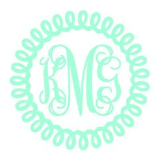 Rope Monogram, vines monogram, circle monogram by SassyGypsyDesigns on Etsy Laptop Decal Stickers, Monogram Stickers, Monogram Shirts, Monogram Fonts, Vine Monogram, Circle Monogram, Custom Decals, Vinyl Decals, Custom Wall