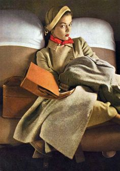 Jean Patchett in Vogue, February 1949. Photo by Irving Penn.