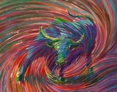 The swirls in this image represents the spiritual energy that exists  all around us. Pioneered by artist Julia Watkins, this art style, known  as energism seeks to use art to help humanity connect to universal  energy flow promoting both healing and higher consciousness.