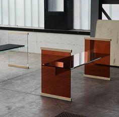 Ronan y Erwan Bouroullec presentaron una colección de mobiliario de vidrio para la marca italiana Glas Italia durante el marco de la Feria de Milán 2014.