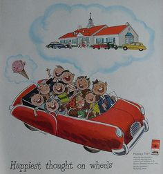 1950s Howard Johnson's restaurants vintage advertisement illustration