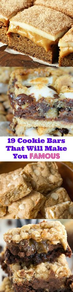 19 Cookie Bars That Will Make You Famous!!