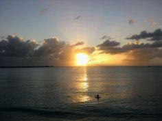 The sun setting in the virginislands
