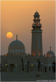 Sunset @ West Bay Mosque, Doha - Doha, Al Wakrah