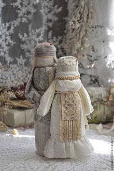 """кукла-оберег Мурашинская парочка """"Семейное счастье"""". - кремовый,молочный"""