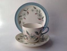 Wedgwood Barlaston Penshurst Trio, Cup Saucer & Tea Plate, 1960s Vintage china. English tea set by gardenfullofVintage on Etsy