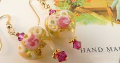 Since Ashley was engaged in Venice, these are Venetian Wedding Cake earrings for a special occasion.