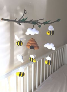 Nice idea to put figures on a branch - Baby Nursery Decor . - Nice idea, figures on a branch – Baby Nursery Decor boy # -