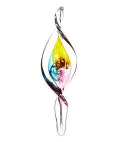Pink & Amber Glass Spiral Ornament #zulily #zulilyfinds