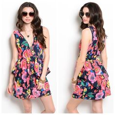 COMING SOON Pink Coral Flowers Dress Super cute summery pink coral flower dress! No trades! Bundle & save 30%! Dresses