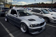 BMW E46 M3 grey deep dish