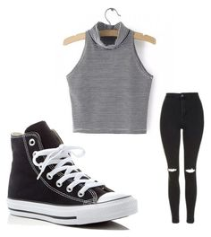 """""""Untitled #179"""" by journeycarothers on Polyvore featuring Topshop and Converse"""