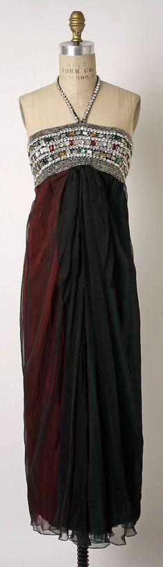 Evening dress James Galanos (American, born Philadelphia, Pennsylvania, 1924) Date: 1964–65 Culture: American Medium: silk, glass