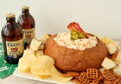 Denver Broncos Beer and Bacon Dip