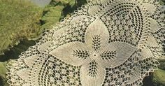A breathtaking knitting oval tablecloth