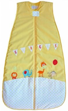 The Dream Bag Baby Sleeping Bag Circus COTTON 18-36 Months 2.5 TOG - Yellow - $60.99