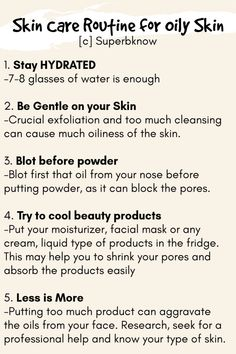 Skin Care Routine for Oily Skin Oily Face, Oily Skin, Normal Skin, Weather Conditions, Effort, Routine, Environment, Smooth, Skin Care