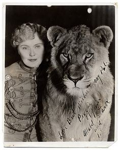 Mabel Stark 1920s circus tiger trainer