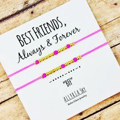 BFF Morse Code Friendship Bracelet Set  BFF Best by AllyriaSky