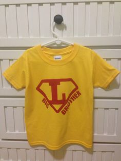 Superman DIY screen printed big brother shirt