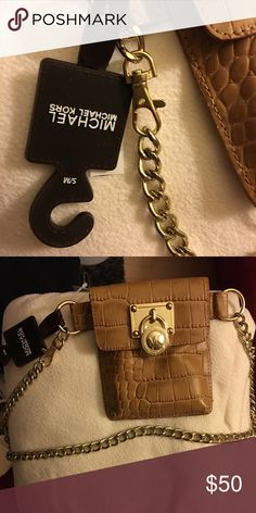 d5ccd38f1eb5 Michael Kors Camile MD Leather Satchel in Tulip NWT