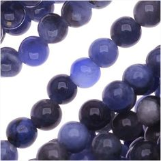 BLUE SODALITE 3MM ROUND BEADS 16 INCH STRAND LAPIS COLOR from beadaholique.com