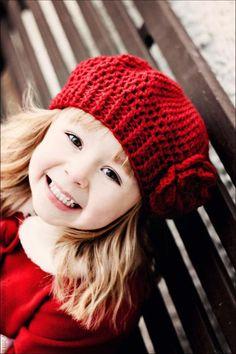 Crochet Pattern Slouchy Hat for Children. Via en.DaWanda.com.