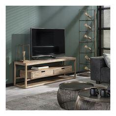 Sahara - TV-bord med skuffer i massivt mangotræ Tv Vintage, Style Vintage, Woodworking Crafts, Home Furnishings, Modern, Products, Oregon, Ali, Mango