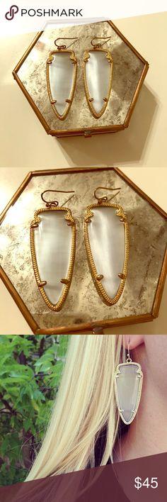 Kendra Scott Skylar Earrings Skylar earrings in slate. Barley worn. Kendra Scott Jewelry Earrings