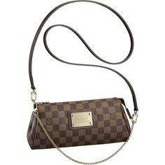 Discover Louis Vuitton Eva: The Eva Clutch in Damier canvas offers stylish women a range of wardrobe options. Carried as a clutch or on the shoulder, it is ideal for evenings, while it can also be worn across the body for a casual look. Louis Vuitton Eva Clutch, Sacs Louis Vuiton, Louis Vuitton Taschen, Louis Vuitton Monograme, Louis Vuitton Handbags, Vuitton Bag, Vuitton Neverfull, Canvas Handbags, Lv Handbags