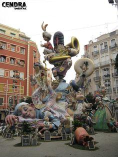 2010 Valencia, Sculpture, Gaudi, Fair Grounds, Paper Mache, Monuments, World, Travel, Decorations