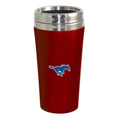 Southern Methodist University Mustangs Double Walled Travel Tumbler, Red