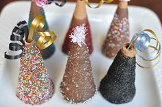 New Year's chocolate cones