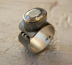 sterling silver ring silver oxidized cocktail ring by emisilver, $59.00
