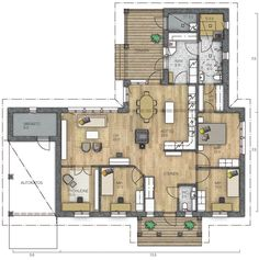 Bungalow, Plan Design, Future House, House Plans, Sweet Home, Floor Plans, Exterior, Flooring, Aurora