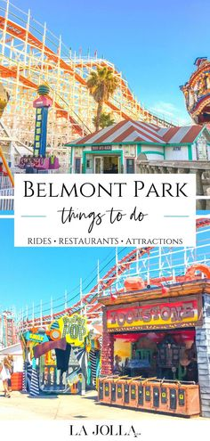 From a historic roller coaster to carnival games, here are the best things to do at Belmont Park San Diego amusement park on the beach. Get all the details here at La Jolla Mom