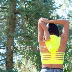 Neon Yellow Sports Bra Hoodie | Runner Island Activewear – Runner Island® Marathon Running Motivation, Yellow Sports Bras, Get Toned, Fitness Goals, Fitness Motivation, Hawaii Vacation, Beach Ready, Track And Field, Neon Yellow
