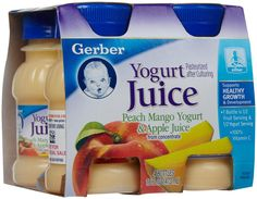 Gerber Juice - Yogurt juice - 4 pack 4 oz bottles 4x4=16 4oz bottles