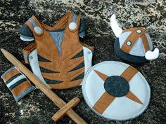 Viking Costume Gift Set  gris et brun  Kid Costume aventure