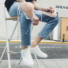 Comfortable White and Blue Lace up Casual Canvas Shoes Hui Li Sneaker you best choice for School, Going out -TOP Design by FSJ Blue Lace, Lace Up, Strappy Heels, Shoes Heels, Flats, Going Out Tops, Classy And Fabulous, International Fashion, Loafers For Women