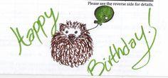 Birthday hedgie, by Zaffie!