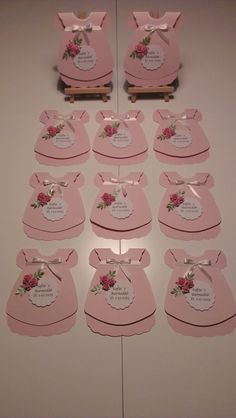Fun Fold Cards, Diy Cards, Baby Shower Cakes, Baby Shower Themes, Fabric Flowers, Paper Flowers, Tiffany Baby Showers, Baby Party, Girl Shower
