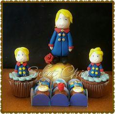 Cupcakes e bombons pequeno príncipe